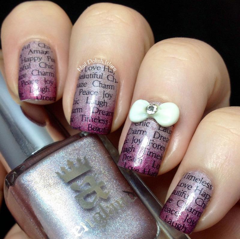 Forget Me Not nail art by Nail Polish Wars