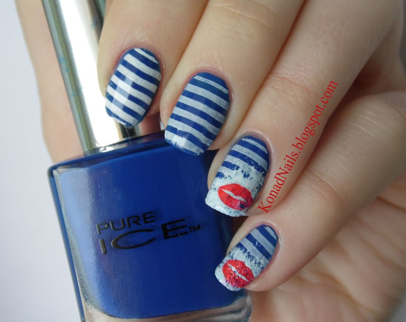 Sailor manicure nail art by KonadAddict