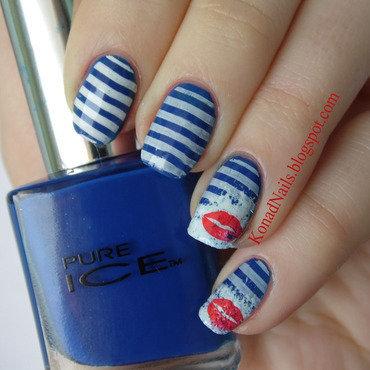 Sailor manicure nail art by KonadAddict