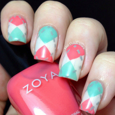 Waxing Argyle nail art by Nail Polish Wars