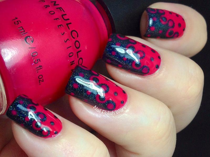 Interlocking Pegs nail art by Nail Polish Wars