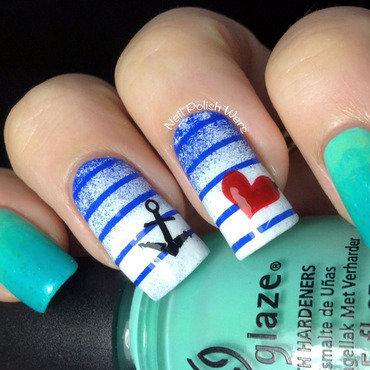 Sea Worthy nail art by Nail Polish Wars