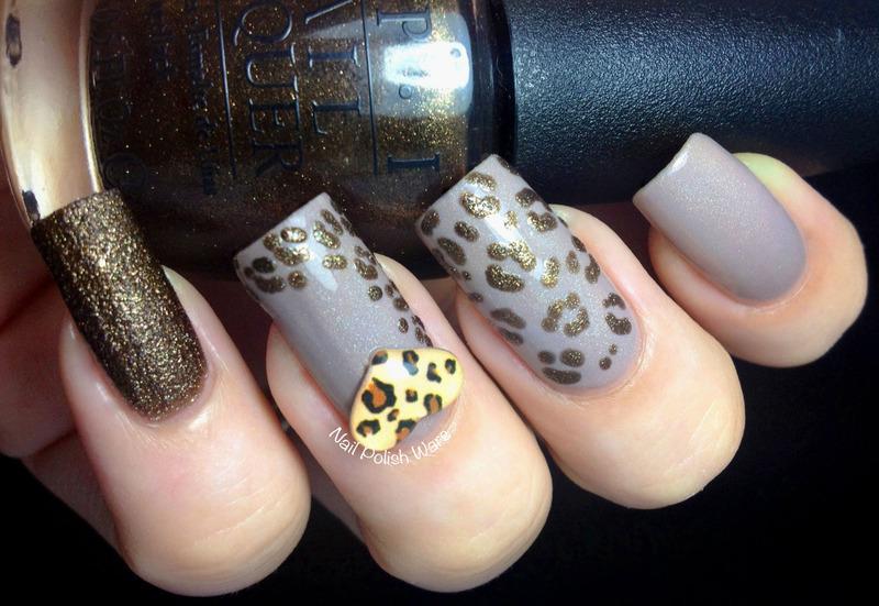 Naked Leopard nail art by Nail Polish Wars