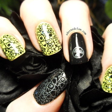 Messy mansion barry m acid yellow science nail art thumb370f