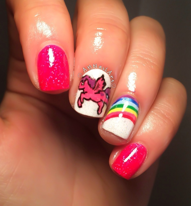 My Little Pony Nails Nail Art By Ah Nail Art Nailpolis