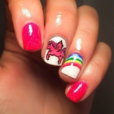 My Little Pony Nails nail art by AH Nail Art