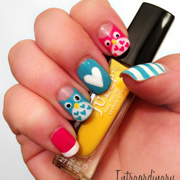 Colorful and Quirky nail art by Katie