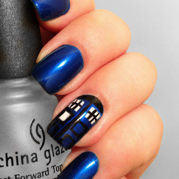 Tardis Nail Art And Swatches Nailpolis Museum Of Nail Art