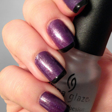 Purple Shimmer Nails nail art by Katie