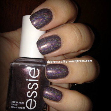Holographic Sable Collar nail art by Nicole