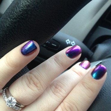 ILNP Birefringence nail art by Nicole