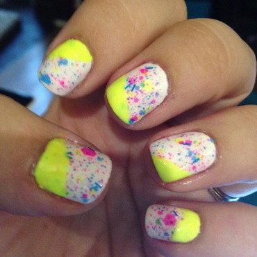 80s Manicure nail art by Nicole
