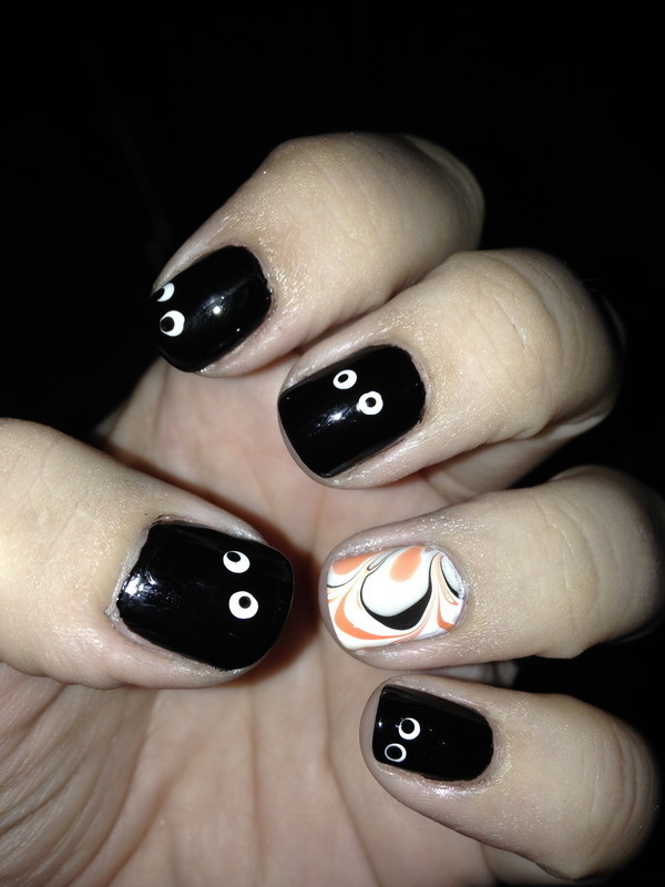 Halloween manicure nail art by Nicole