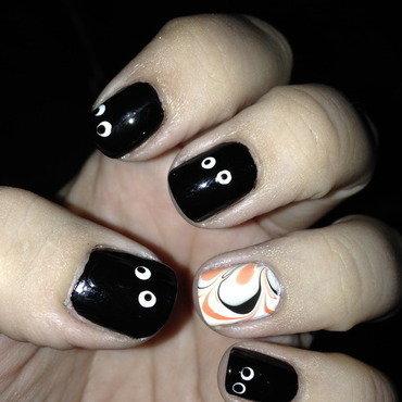 Halloween manicure nail art by Nicole