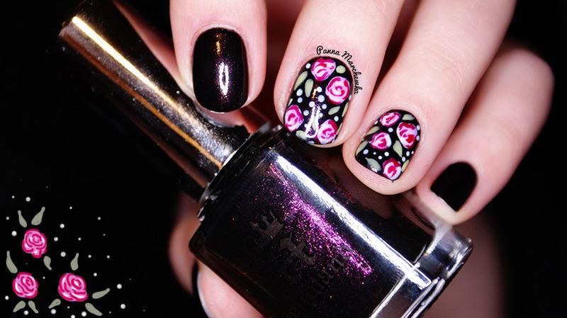 Jane Eyer nail art by Panna Marchewka