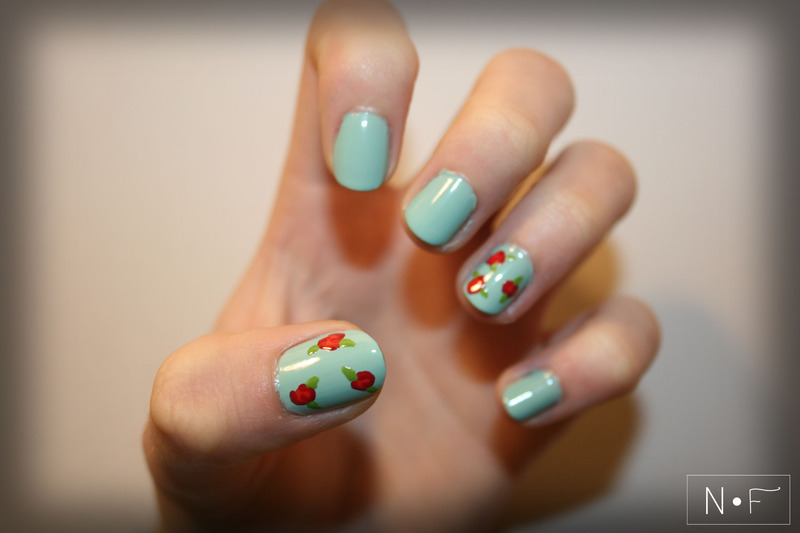 Vintage roses nail art by NerdyFleurty