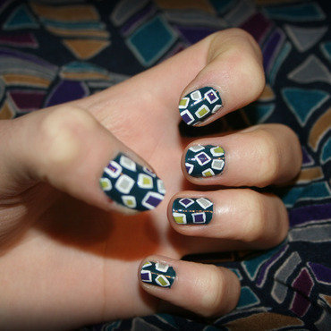Inspired by a dress nail art by NerdyFleurty