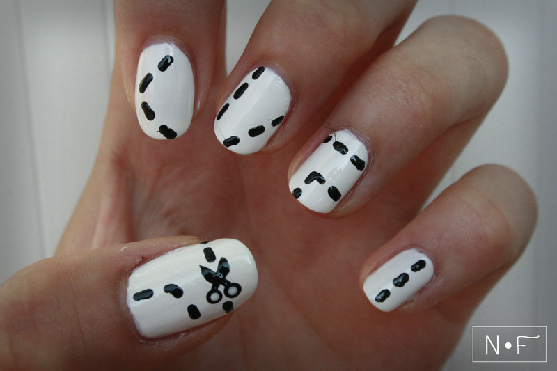 Cut it in pieces nail art by NerdyFleurty