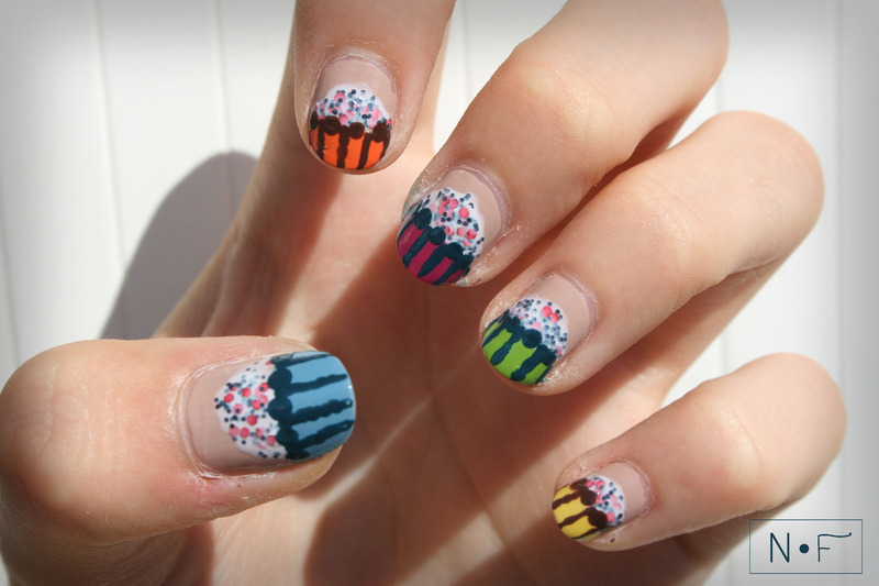 Cupcakes nail art by NerdyFleurty
