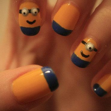 Minions nail art nail art by NerdyFleurty