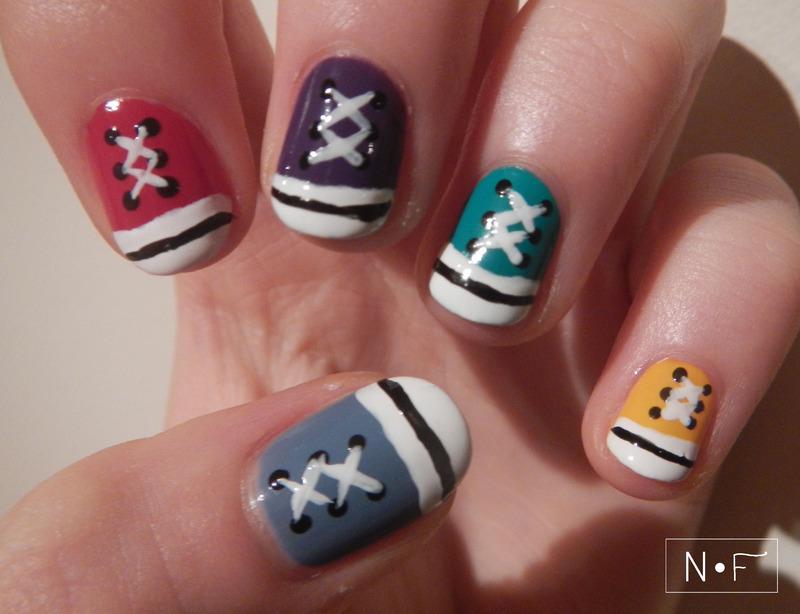 All stars nail art nail art by NerdyFleurty