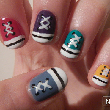 All stars nail art nail art by NerdyFleurty