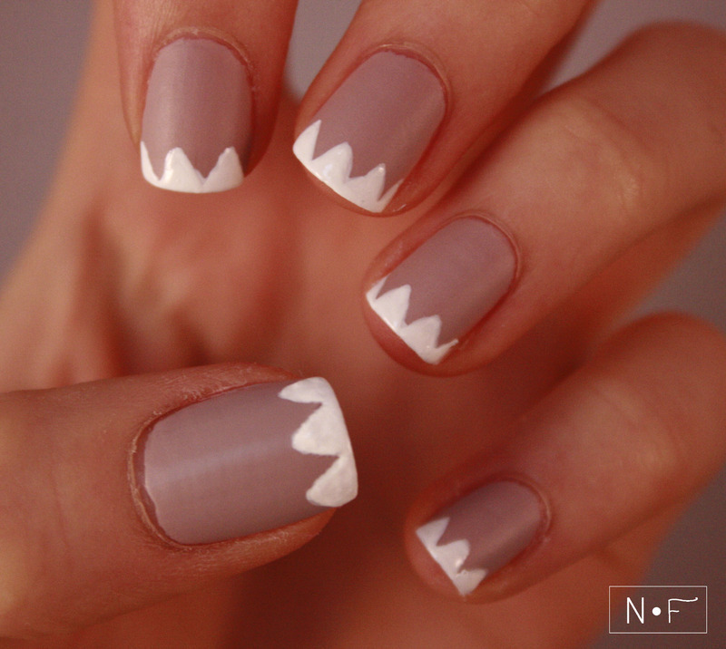Chevron tips nail art by NerdyFleurty