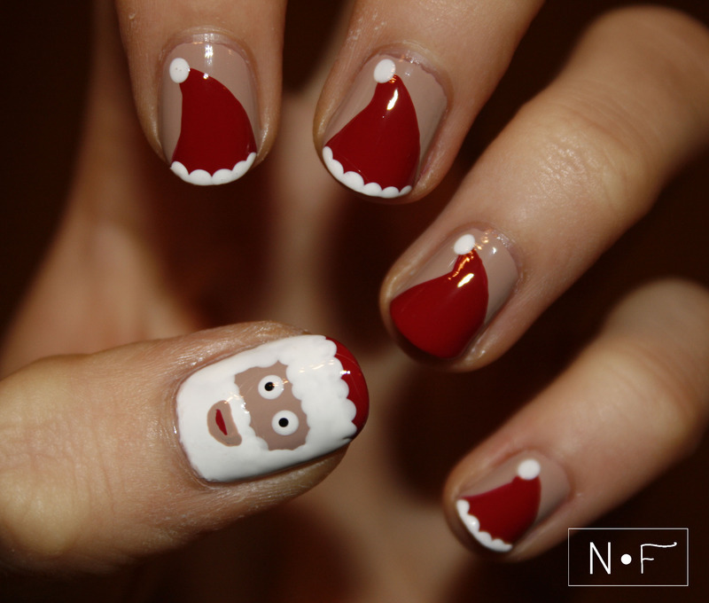Santa Claus nail art by NerdyFleurty