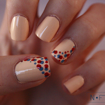 Dotted side nail art by NerdyFleurty