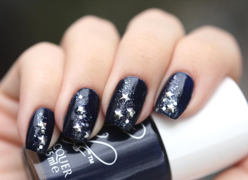 Starfall nail art by Maria
