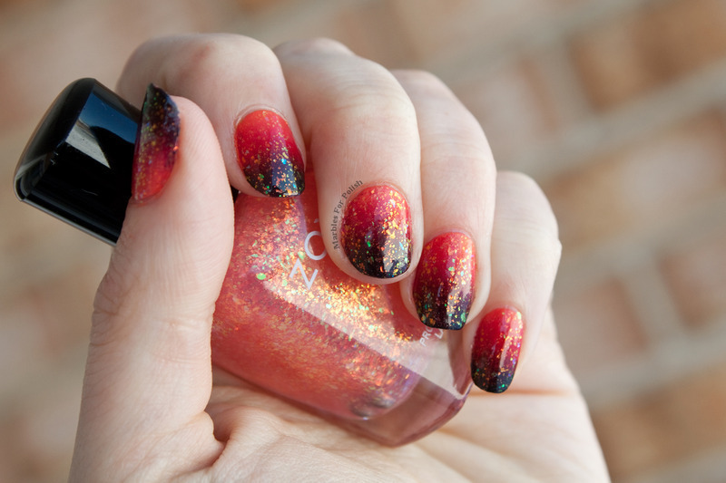 Magma Nails nail art by Shannon