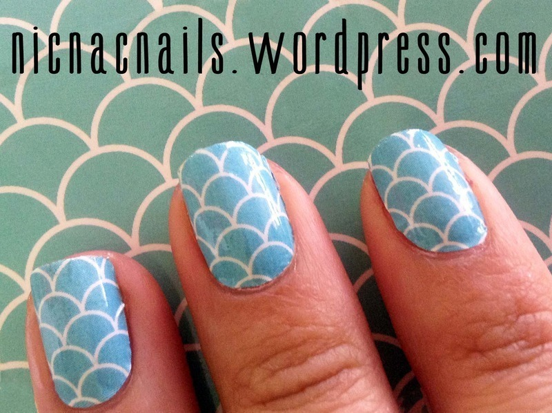 Mermaid Scales nail art by Nicole Wood