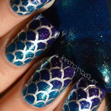 Mermaid Scales nail art by Leesha