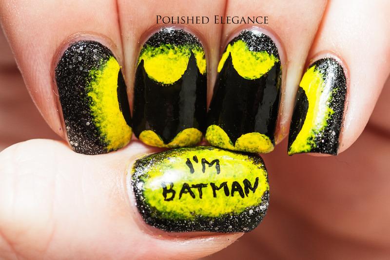 I'm Batman! nail art by Lisa