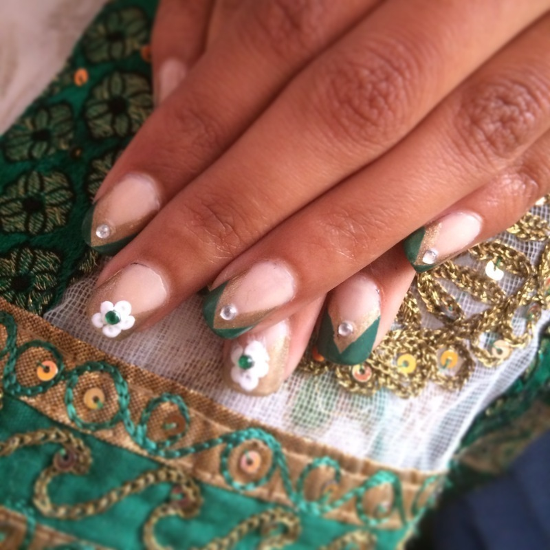 Wedding nails nail art by Nikita Natali