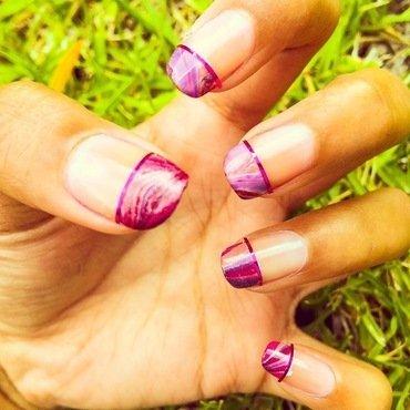 Marble Tips nail art by Nikita Natali