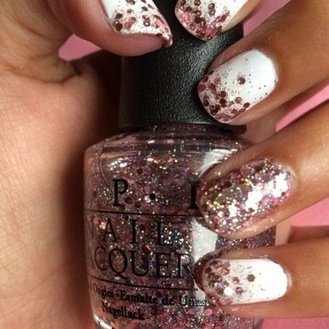 Glitter Gradient nail art by Nikita Natali