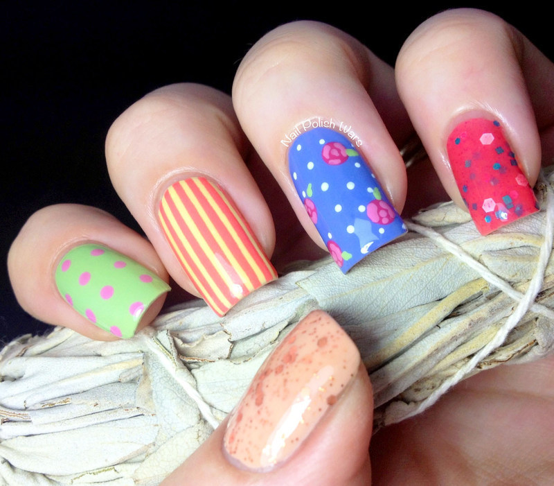 Sweetly Skittled nail art by Nail Polish Wars