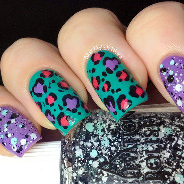 Leopard Graffiti nail art by Nail Polish Wars