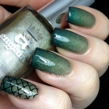 Dragon Scales nail art by Nail Polish Wars