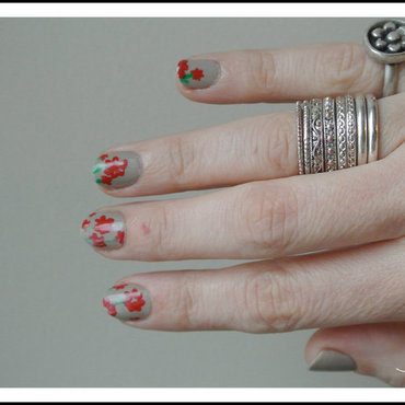 simply flower's nails nail art by Jo3jeans