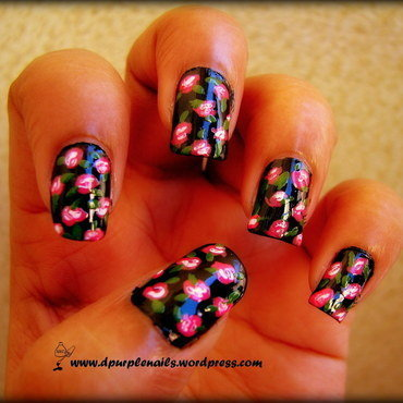 Betsey Rose Nails nail art by Deepika