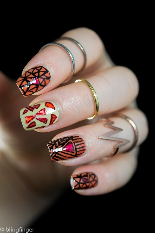 Safari nail art by  Petra  - Blingfinger