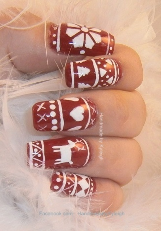 Ugly Christmas Sweaters nail art by  Kyleigh  'Handmade By Kyleigh'