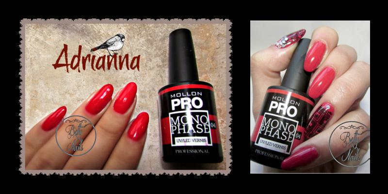 Mollon Pro Monophase Adrianna nail art by Barbara Fernandes