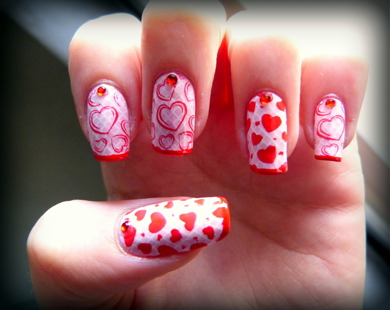 Love is what we make of it nail art by Maeva Lukec