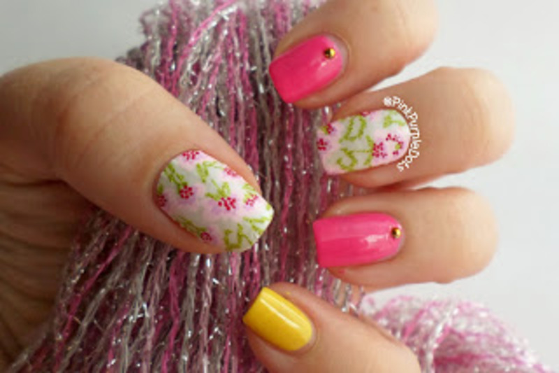 A fun skittlette mani using Revlon products.  nail art by Lynette