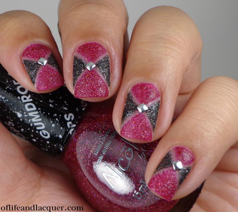 Geometric Gumdrops nail art by Cynthia
