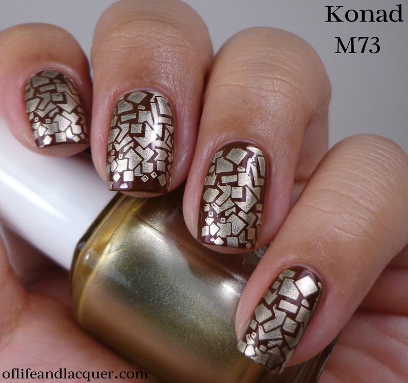 Chocolatey Gold nail art by Cynthia