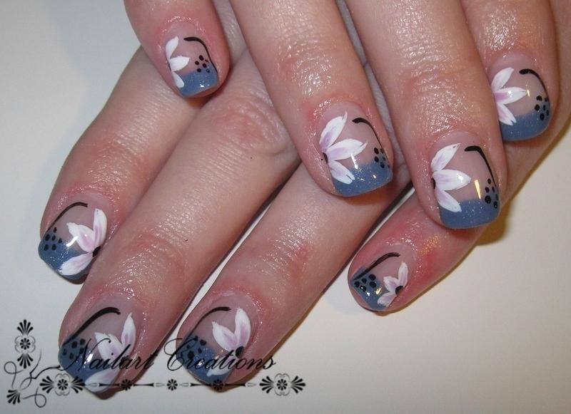 Floral Nailart nail art by Nailart Creations